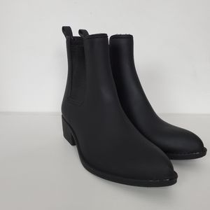 Jeffery Campbell Chelsea Rain Boot Blackout 9